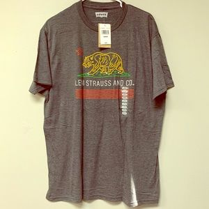 New LEVIS T-Shirt Large Gray.